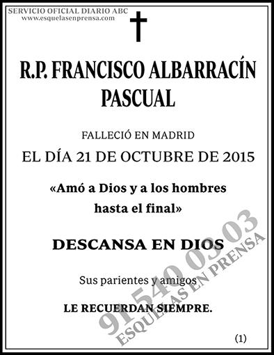 Francisco Albarracín Pascual